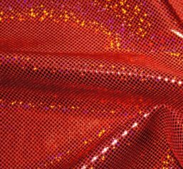 red hologram fabric