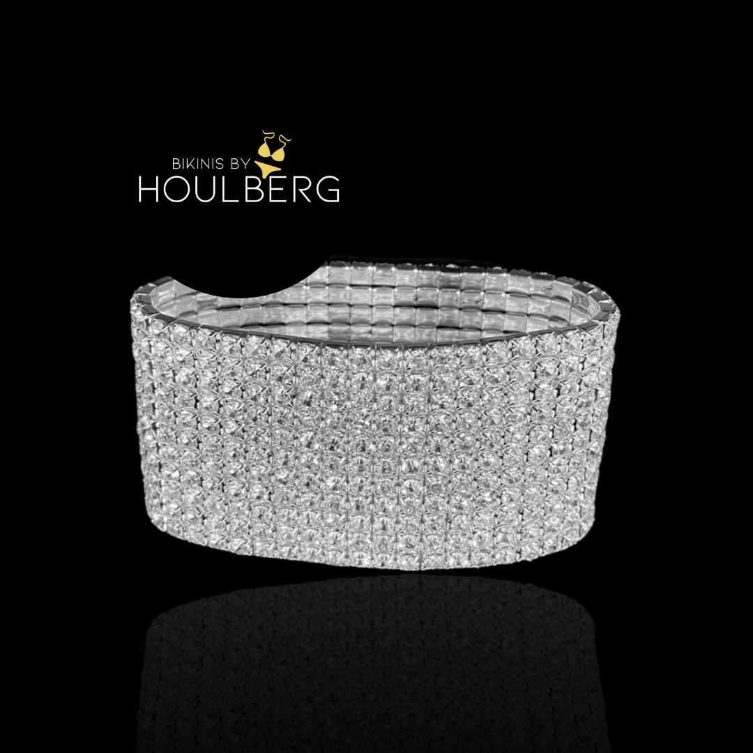 Crystal bracelet 11-row