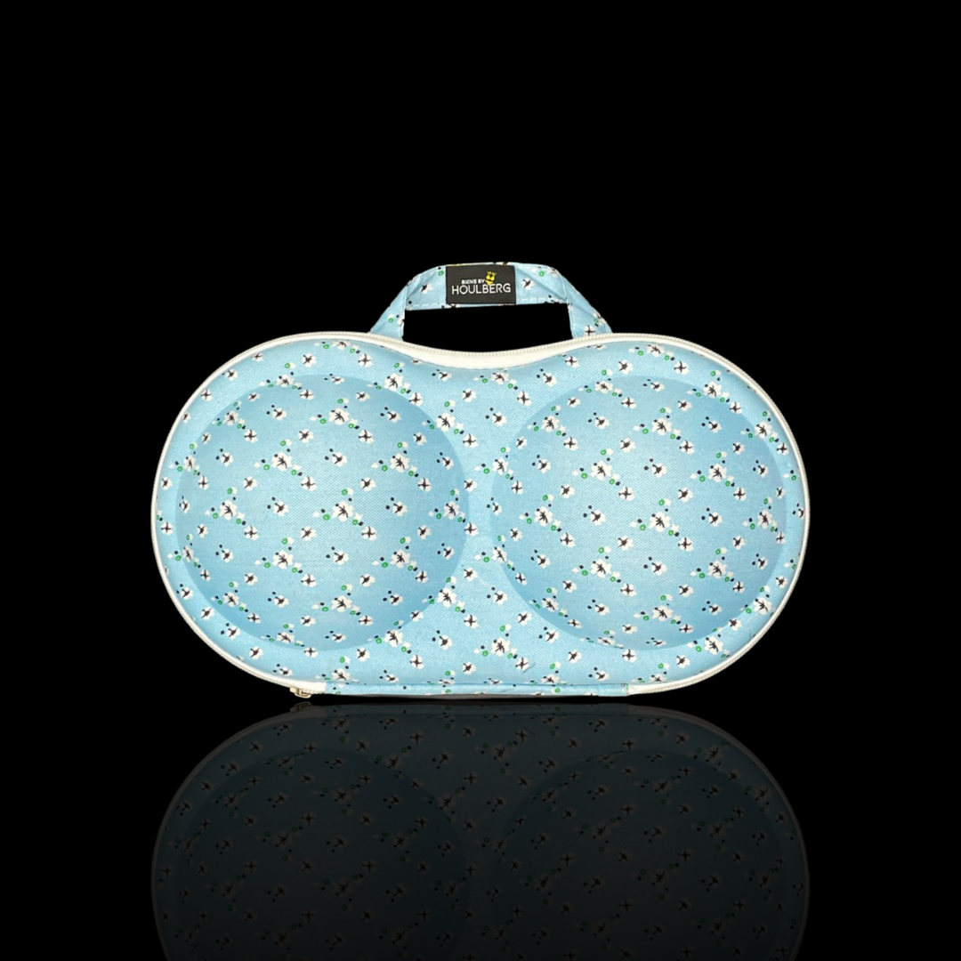 bikini taske blue flower